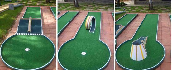 Препятствия для мини гольфа своими руками